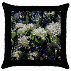 Floral Skies 2 Throw Pillow Case (black) by dawnsiegler