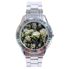 Floral Skies 2 Stainless Steel Analogue Watch by dawnsiegler