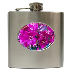 Pretty In Fuchsia Hip Flask (6 Oz) by dawnsiegler