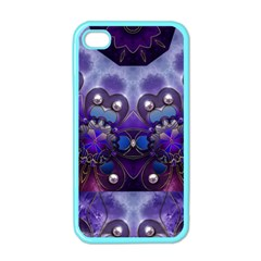 Pearls On Lavender Apple Iphone 4 Case (color) by KirstenStar