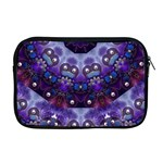 Pearls On Lavender Apple MacBook Pro 17  Zipper Case Front