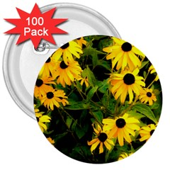 Walking Through Sunshine 3  Buttons (100 Pack)  by dawnsiegler