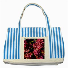 Lilacs Striped Blue Tote Bag by dawnsiegler