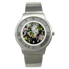 Tree Blossoms Stainless Steel Watch by dawnsiegler