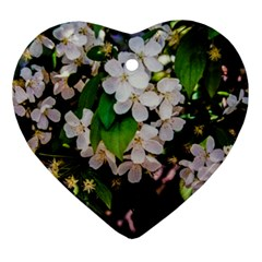 Tree Blossoms Heart Ornament (two Sides) by dawnsiegler