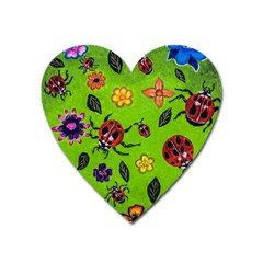 Lucky Ladies Heart Magnet by dawnsiegler