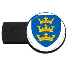 Lordship Of Ireland Coat Of Arms, 1177 1542 Usb Flash Drive Round (2 Gb) by abbeyz71