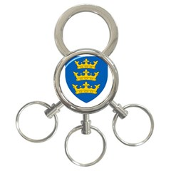 Lordship Of Ireland Coat Of Arms, 1177 1542 3 Ring Key Chains by abbeyz71