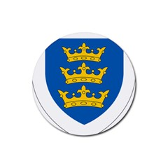 Lordship Of Ireland Coat Of Arms, 1177 1542 Rubber Coaster (round)  by abbeyz71