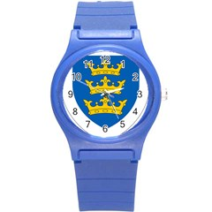 Lordship Of Ireland Coat Of Arms, 1177 1542 Round Plastic Sport Watch (s) by abbeyz71