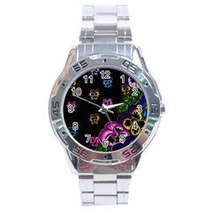 Floral Rhapsody Pt 1 Stainless Steel Analogue Watch by dawnsiegler