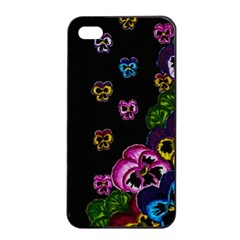 Floral Rhapsody Pt 1 Apple Iphone 4/4s Seamless Case (black) by dawnsiegler