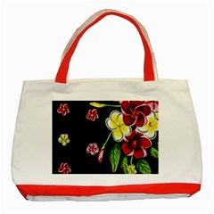 Floral Rhapsody Pt 2 Classic Tote Bag (red) by dawnsiegler