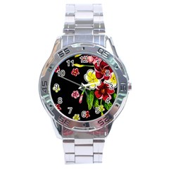 Floral Rhapsody Pt 2 Stainless Steel Analogue Watch by dawnsiegler