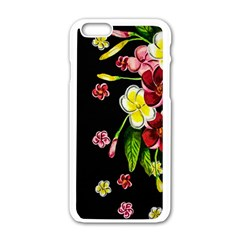 Floral Rhapsody Pt 2 Apple Iphone 6/6s White Enamel Case by dawnsiegler