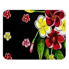 Floral Rhapsody Pt 2 Double Sided Flano Blanket (large)  by dawnsiegler