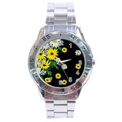 Floral Rhapsody Pt 3 Stainless Steel Analogue Watch by dawnsiegler