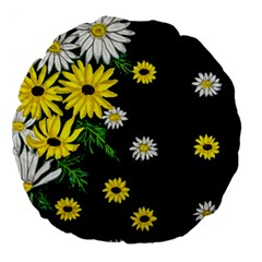 Floral Rhapsody Pt 3 Large 18  Premium Flano Round Cushions by dawnsiegler