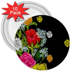 Floral Rhapsody Pt 4 3  Buttons (10 Pack)