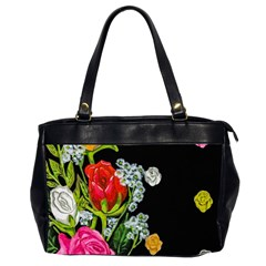 Floral Rhapsody Pt 4 Office Handbags (2 Sides)  by dawnsiegler