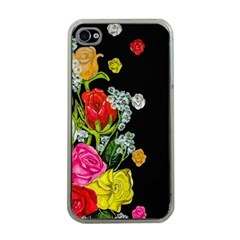 Floral Rhapsody Pt 4 Apple Iphone 4 Case (clear) by dawnsiegler