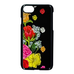 Floral Rhapsody Pt 4 Apple Iphone 7 Seamless Case (black) by dawnsiegler