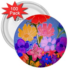 Spring Pastels 3  Buttons (100 Pack)  by dawnsiegler