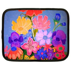 Spring Pastels Netbook Case (large) by dawnsiegler