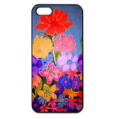 Spring Pastels Apple Iphone 5 Seamless Case (black) by dawnsiegler