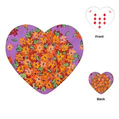 Floral Sphere Playing Cards (heart)  by dawnsiegler