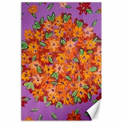 Floral Sphere Canvas 20  X 30   by dawnsiegler