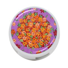Floral Sphere 4 Port Usb Hub (one Side) by dawnsiegler
