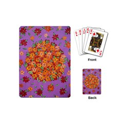 Floral Sphere Playing Cards (mini)  by dawnsiegler