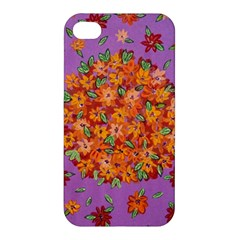 Floral Sphere Apple Iphone 4/4s Hardshell Case by dawnsiegler