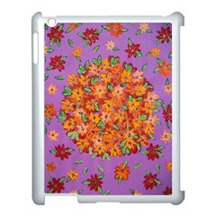 Floral Sphere Apple Ipad 3/4 Case (white) by dawnsiegler