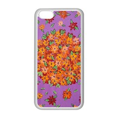 Floral Sphere Apple Iphone 5c Seamless Case (white) by dawnsiegler