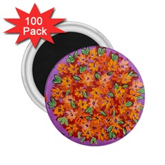 Floral Sphere 2 25  Magnets (100 Pack)  by dawnsiegler