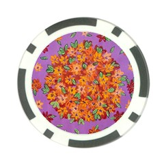 Floral Sphere Poker Chip Card Guard