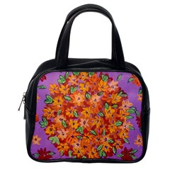 Floral Sphere Classic Handbags (one Side)
