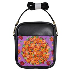 Floral Sphere Girls Sling Bags