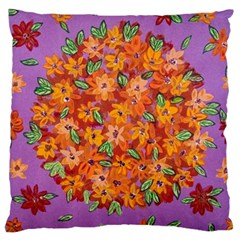 Floral Sphere Large Cushion Case (one Side) by dawnsiegler