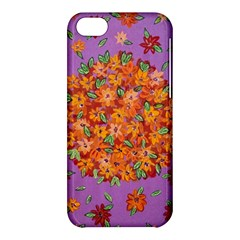 Floral Sphere Apple Iphone 5c Hardshell Case by dawnsiegler