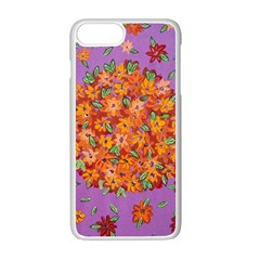 Floral Sphere Apple Iphone 7 Plus White Seamless Case by dawnsiegler