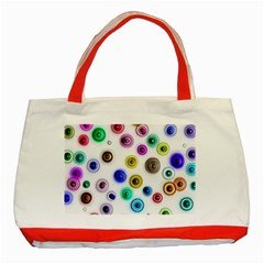 Colorful Concentric Circles              Classic Tote Bag (red) by LalyLauraFLM