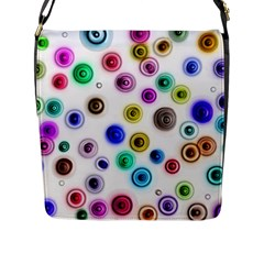 Colorful Concentric Circles              Flap Closure Messenger Bag (l) by LalyLauraFLM