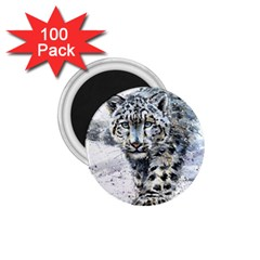 Snow Leopard 1 1 75  Magnets (100 Pack)  by kostart
