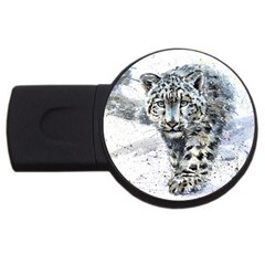 Snow Leopard 1 Usb Flash Drive Round (2 Gb) by kostart