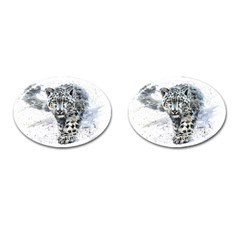 Snow Leopard 1 Cufflinks (oval) by kostart