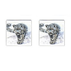 Snow Leopard 1 Cufflinks (square) by kostart