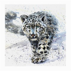 Snow Leopard 1 Medium Glasses Cloth (2 Side) by kostart
